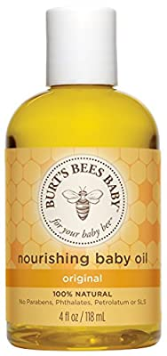 Burts Bees Baby Baby Nourishing Oil, 4 Ounces (Pack of 3), Packaging May Vary