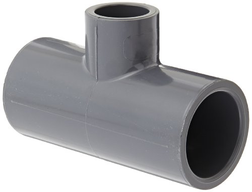 80 Gray Tee Pvc Socket - GF Piping Systems PVC Pipe Fitting, Reducing Tee, Schedule 80, Gray, 1