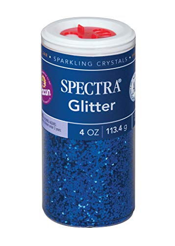 Pacon Spectra Glitter Sparkling Crystals, Blue, 4-Ounce Jar (91640)