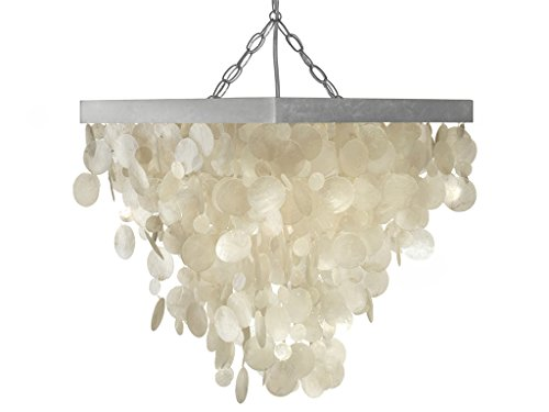 KOUBOO Capiz Seashell Rain Drop Pendant Lamp (Capiz Light Pendant)