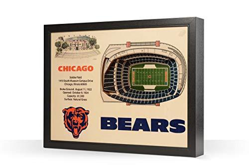 NFL Chicago Bears 25-Layer Stadiumviews 3D Wall Art