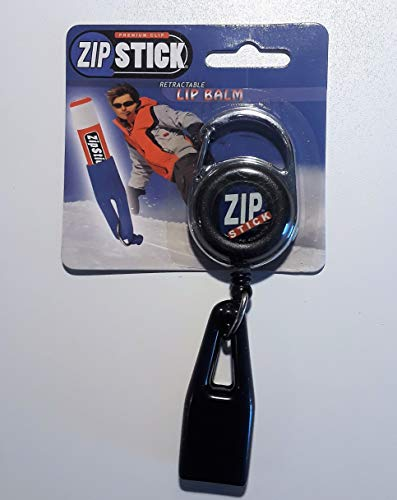 Clip-On Retractable ZIP Stick - Black (Extends 32 Inches) Fits all Standard Stick-Type Lip Balms and Lip -