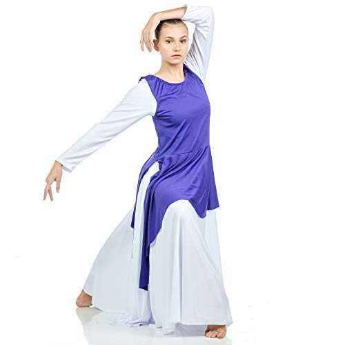 f699cff33ab9 Jual Danzcue Asymmetrical Praise Dance Tunic with Side Slits - Tops ...