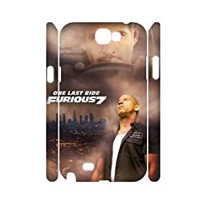 Lycase(TM) Fast and Furious 7 Custom 3D Cover Case, Fast and Furious 7 Samsung Galaxy Note 2 N7100 3D Case