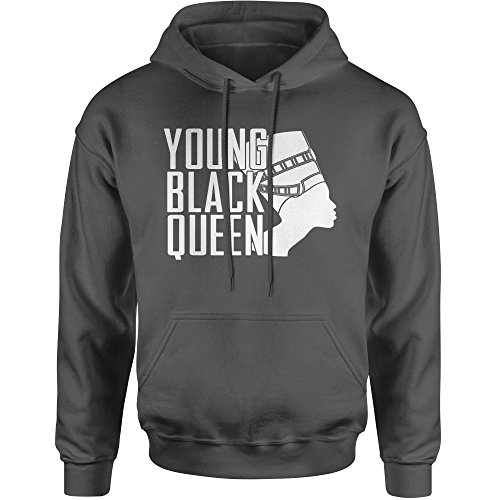 Hoodie Young Black African American Queen Adult Medium Charcoal Grey