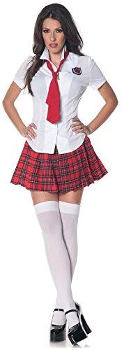 [Teachers Pet Sexy School Girl Dress Costume] (Teachers Pet School Girl Costume)