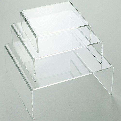 Medium Low Profile Riser 3pcs Set in Clear Acrylic by -