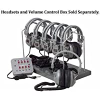 Listening Center Rack w/Dustcover - Supports up to 8 Headphones