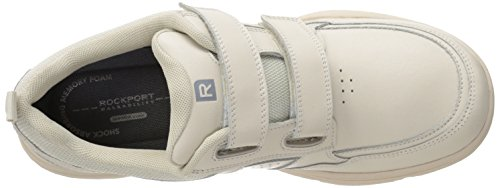 Rockport Mens State-O-Motion Hook and Loop Sport White Leather 7.5 M (D)