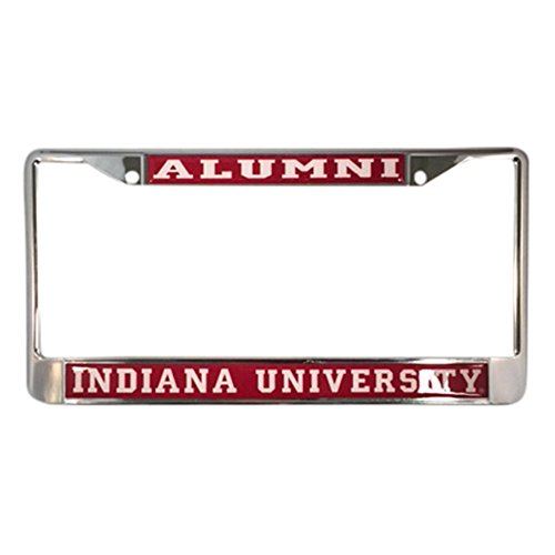 Indiana University License Plate Frame/Tag For Front Back of Car Officially Licensed (Alumni - Metal Frame) University License Plate Frame