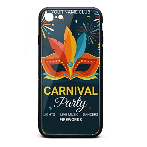 Anti-Scratch iPhone 6/6s Cell Phone case Dark Carnival Party Poster Template Feather iPhone 6s Accessories Custom iPhone 6 case (Cd Jewel Case Template)