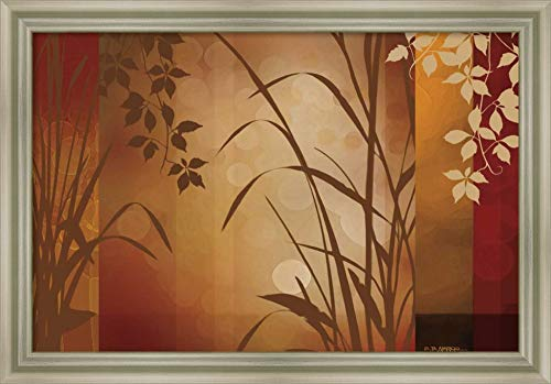 (Canvas Art Framed 'Flaxen Silhouette' by Edward Aparicio)