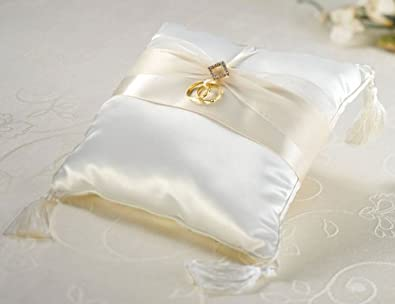 Amazoncom Ivory Diamonds Ring Bearer Pillow Jewelry
