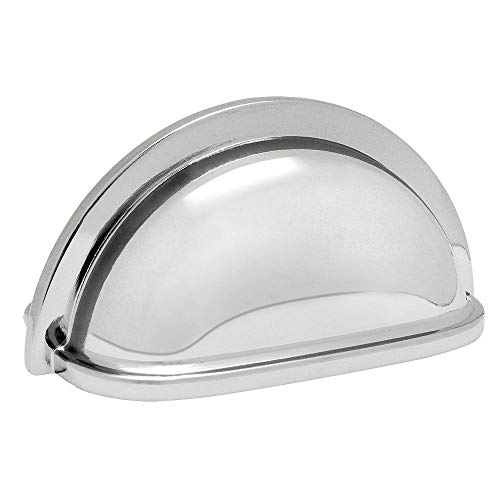 - 5 Pack - Cosmas 4310CH Polished Chrome Cabinet Hardware Bin Cup Drawer Handle Pull - 3