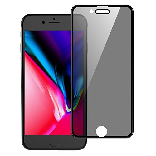 Universal iPhone 8, 7, 6/6s Privacy Screen Protector, WEBELI Anti Spy Anti-Glare [4D Full Coverage] Tempered Glass for iPhone 8/7/6/6s 4.7 (Black)