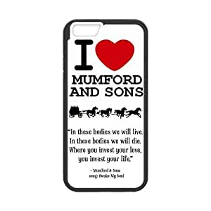 iPhone 6 Protective Case - I Love Mumford and Sons Hardshell Cell Phone Cover Case for New iPhone 6 by mcsharks