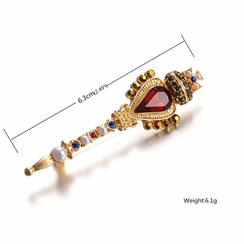 [2016 New Handscraf Gold Plated CZ Crystal Royal Key Brooches Fashion Jewelry Pins And Brooches] (Mcgonagall Costume Diy)