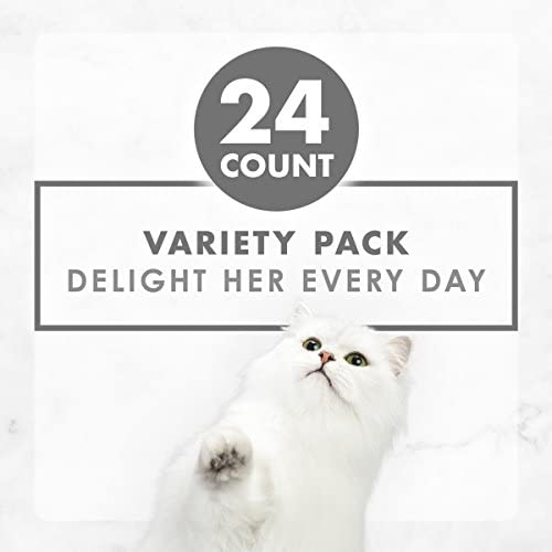 Fancy Feast Purina Gravy Wet Cat Food Variety Pack, Poultry & Beef Grilled Collection 11