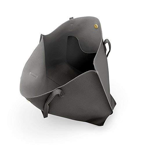 OCT17 Women Tote Bag - Tassels Faux Leather Shoulder Handbags, Fashion Ladies Purses Satchel Messenger Bags (Dark Gray) by OCT17 (Image #6)