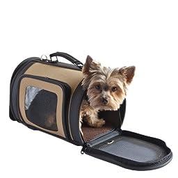 Petote Kelle Pet Travel Bag, Tan, Large
