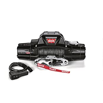 warn 89611 zeon 10-s winch with synthetic rope - 10000 lb  capacity
