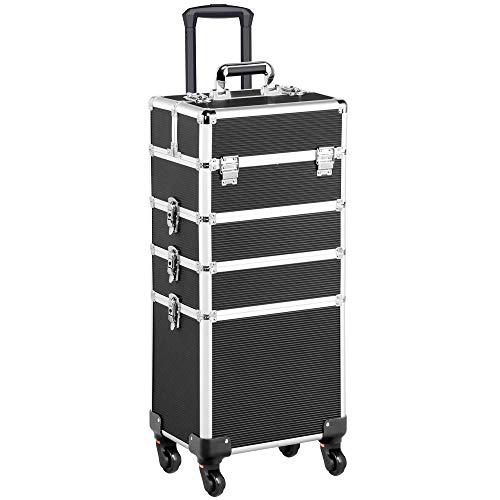 Top 10 best makeup train case with wheels 2020