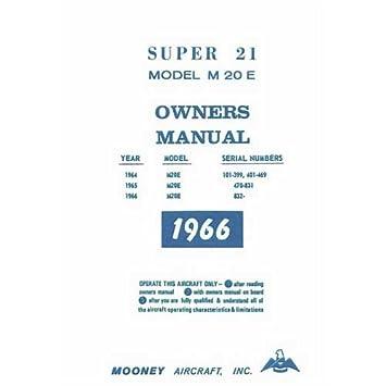Mooney m20f manual array amazon com mooney m20e super 21 1964 66 owner u0027s manual part rh amazon fandeluxe Images