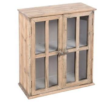 Hängeschrank Im Fensterladen Design Holz Vintage Look