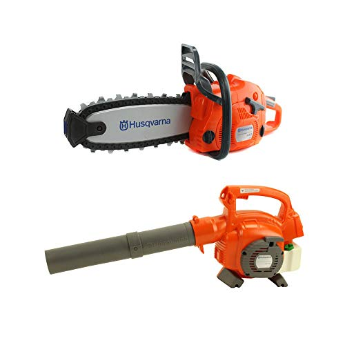 (Husqvarna 125B Kids Toy Battery Operated Leaf Blower & Chainsaw Pretend Play Set)