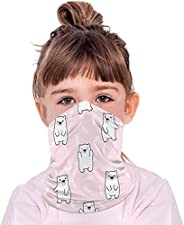 Ecnobia 1 Pack - Kids Cooling Neck Face Bandana, Full-Coverage Face ṁɑşḱ for Boys Girls Outdoor - Multifunctio