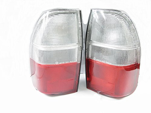Clear Red Rear Tail Light Lamp Pair Mitsubishi L200 Strada 1995-2004 4wd