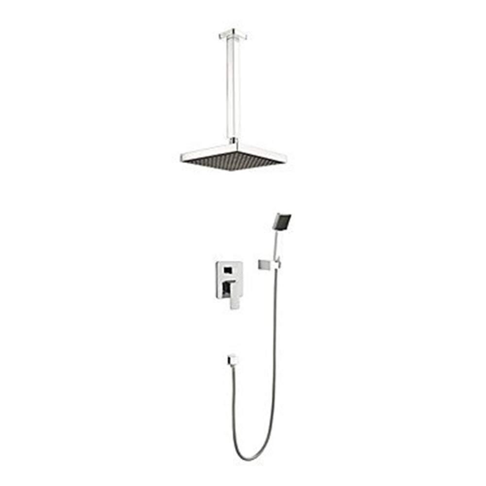 シャワー蛇口高級シャワーシステムスイッチ多層電気メッキプロセスシャワーヘッド壁掛けシャワーシステム B07R51SHL4