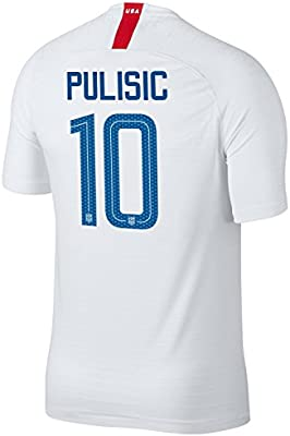 detailed look 99499 80926 Nike USA 2018 Home Soccer Jersey Pulisic #10 Size Adult L