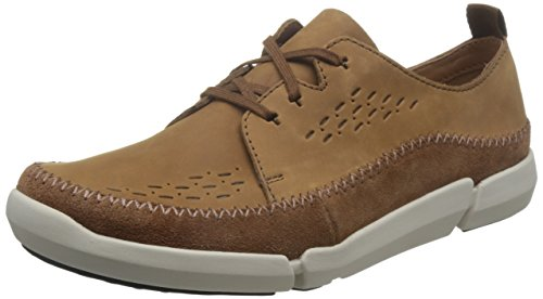 Clarks Trifri Lace Tobacco Nubuck Shoes