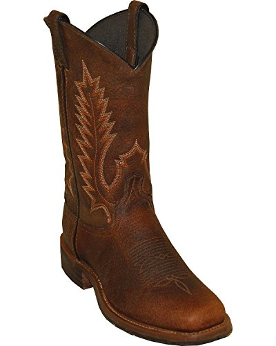 Abilene Men's Boot Pioneer Western Square Toe Brown 10.5 D(M) US