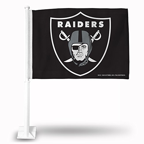 Rico Industries NFL Oakland Raiders Car (Raiders Car Flag)