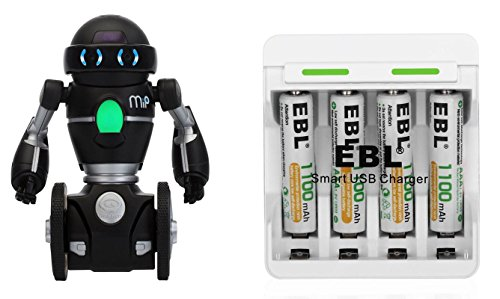 WowWee Black Robot bundled with Rechargeable - Robot Black