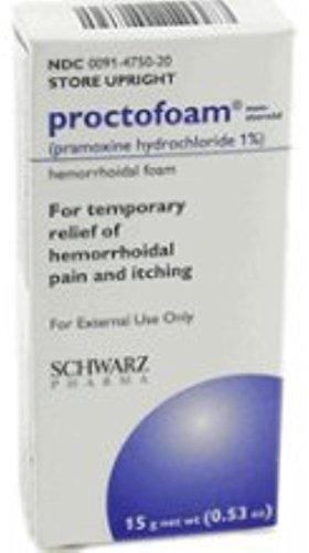 Proctofoam NS Hemorrhoidal Foam 1% 15 gm