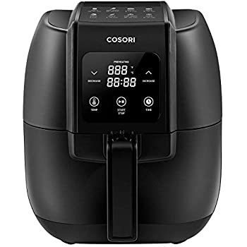COSORI Air Fryer,1500-Watt Electric Air Fryers Oven & Oilless Cooker for Roasting,LED Digital Touchscreen Preheat with Quick Reference Guide,Nonstick Basket, 3.4QT, Black