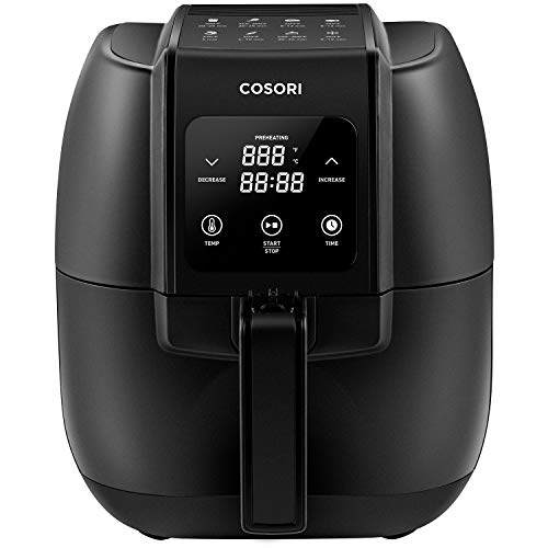 Buy Bargain COSORI Air Fryer,1500-Watt Electric Air Fryers Oven & Oilless Cooker for Roasting,LED Digital Touchscreen Preheat with Quick Reference Guide,Nonstick Basket, 3.4QT, Black