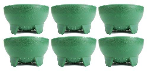 Set of 6 Green Black Duck Brand 4.5' Diameter Salsa Bowls!
