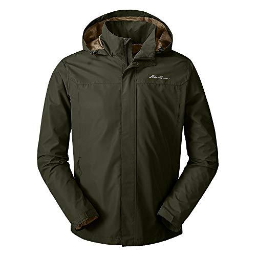 Eddie Bauer Men's Rainfoil Packable Jacket, Dk Loden Regular L