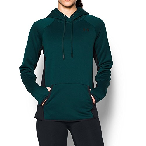 Under Armour Women's Fleece Hoodie-Solid, Arden Green (919)/Black, X-Small