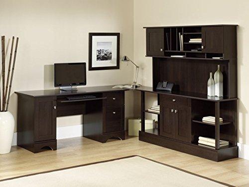 Amazon Com Realspace Dawson 60in Computer Desk Cinnamon Cherry