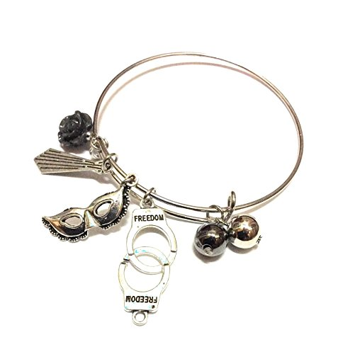 Shades Jewelry (Ivy & Clover Fifty Shades Freed Shades Darker Fifty Shades of Grey Inspired Easter Passover Gift Holiday Charm Bangle Bracelet)