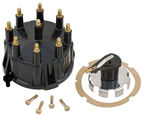 Thunderbolt Distributor Cap and Trigger Wheel Rotor Kit with Gasket and Screws for Mercruiser 5.0, 5.7, 7.4, 8.2 V8 -