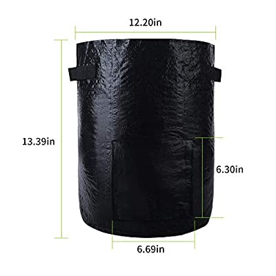 3-Pack 10 Gallons Grow Bags Potato Planter Bag with Access Flap and Handles for Harvesting Potato, Carrot, Onion, Tomato and Vegetables : Garden & Outdoor