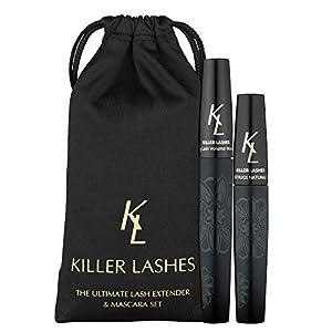 KL Killer Lashes – Rehausseur de cils en fibres et mascara (9 ml et 6 ml) à effet 3D, édition limitée, avec housse de…