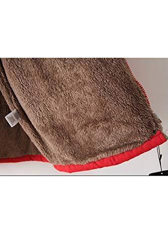 Manches Printemps Capuche Mode Automne Rouge clair Parka A Longues Femme Elgante Veste Fermeture Chaud Casual Gaine A Manteau breal Capuche Jacket avec Poches EPI0xnqtw