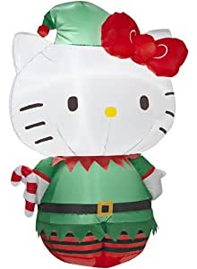 Hello kitty 3 39 christmas lighted airblown for Amazon christmas lawn decorations